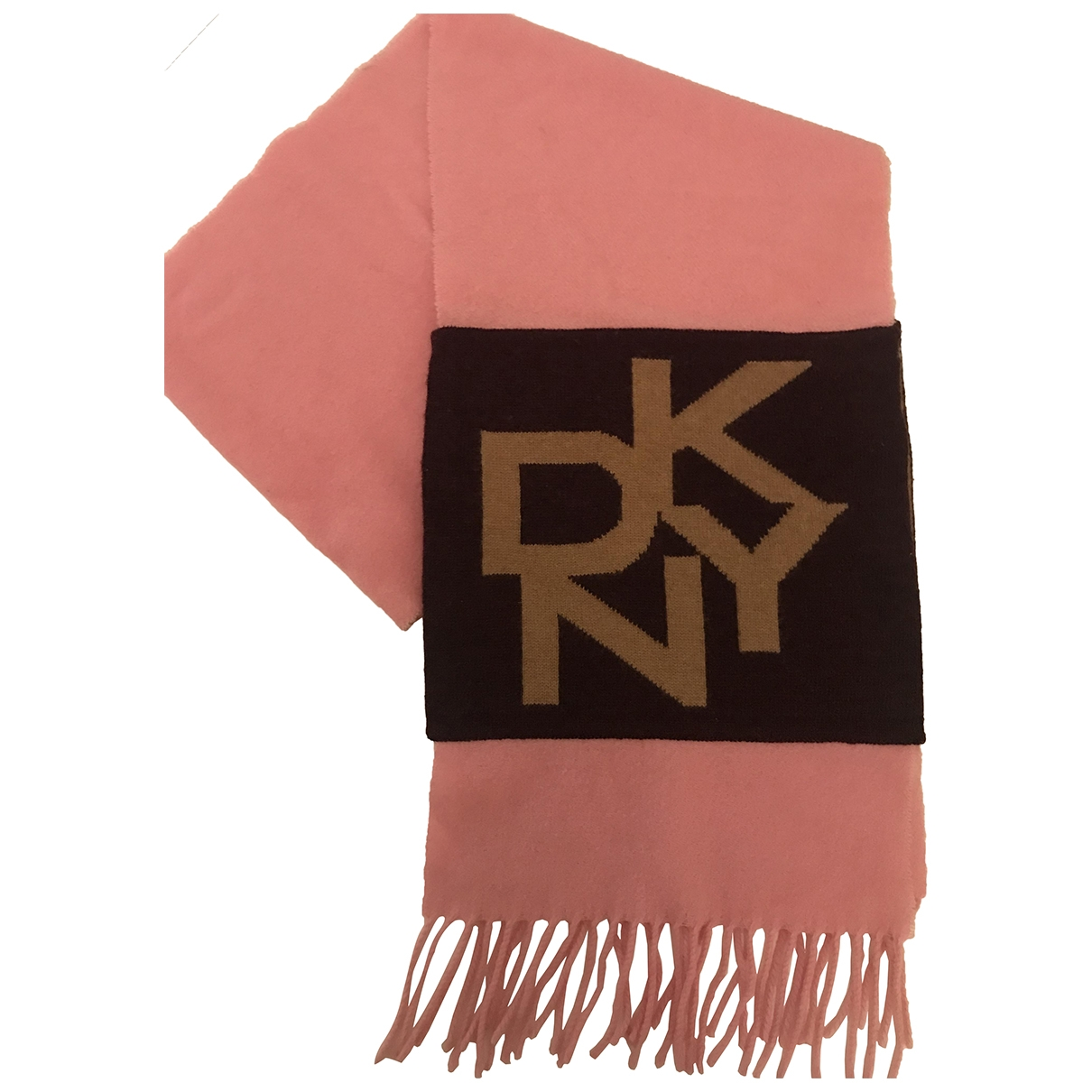 Dkny \N Schal in  Rosa Wolle