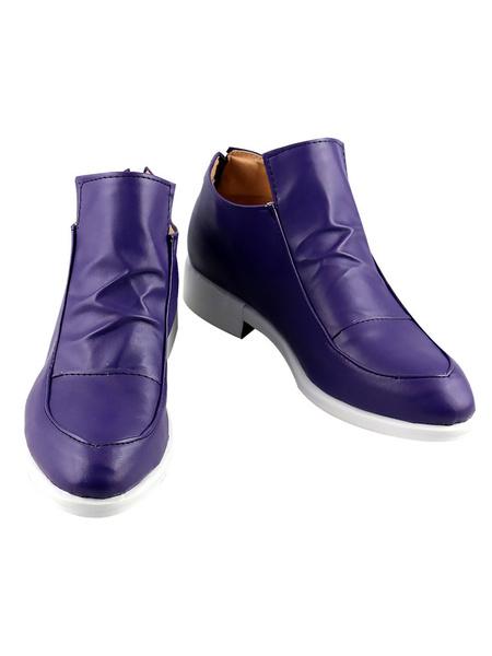 Milanoo JoJos Bizarre Adventure Vento Aureo Golden Wind Diavolo Purple Cosplay Shoes