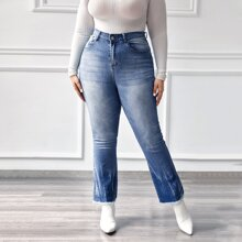 Plus Curvy High Waist Flare Leg Jeans