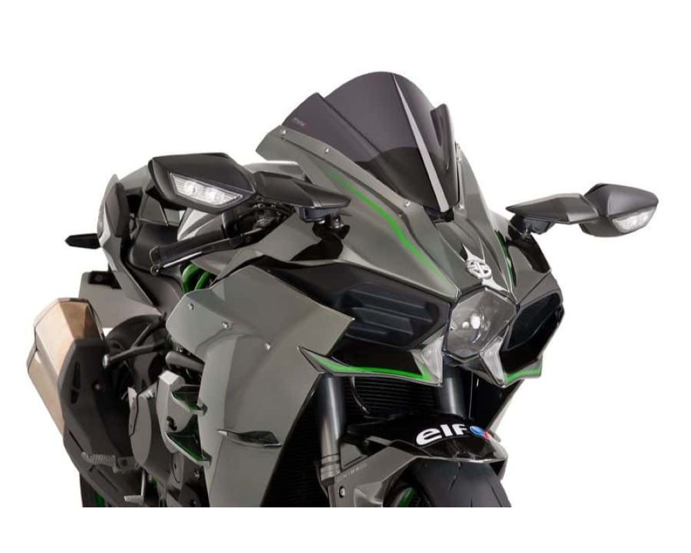 Puig 7631F Z-Racing Windscreen - Dark Smoke Kawasaki Ninja H2 2015