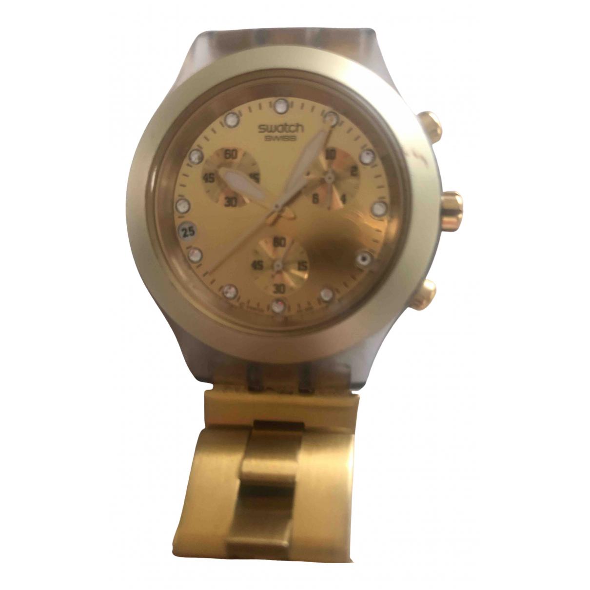 Swatch N Gold Steel watch for Women N