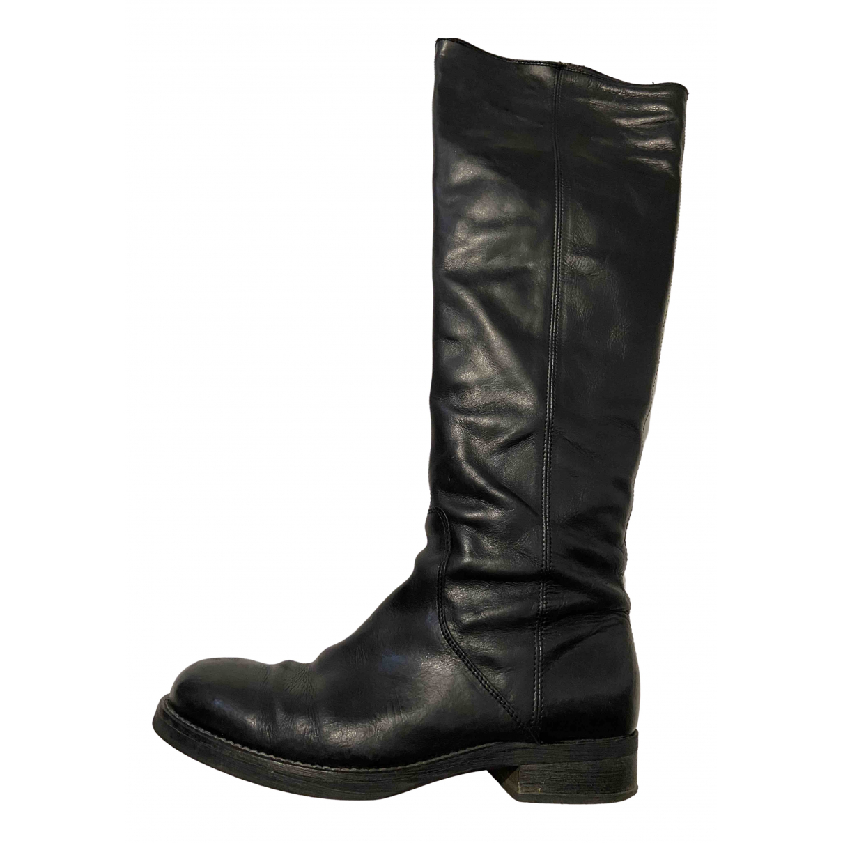 Max & Co \N Black Leather Boots for Women 38 EU