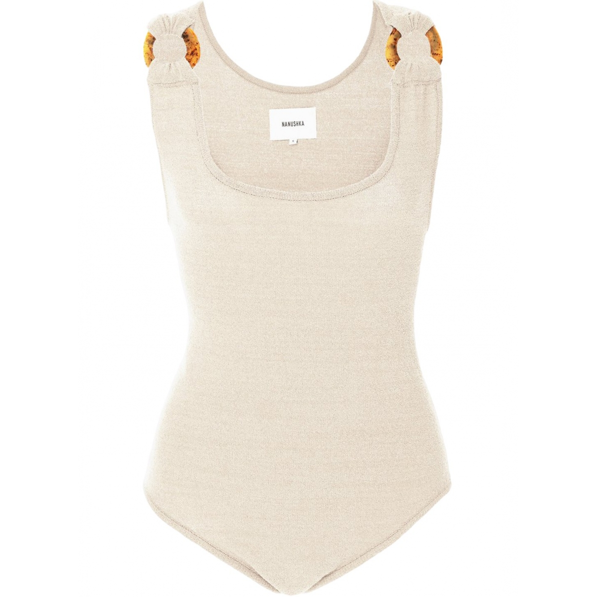 Nanushka - Top   pour femme en coton - ecru