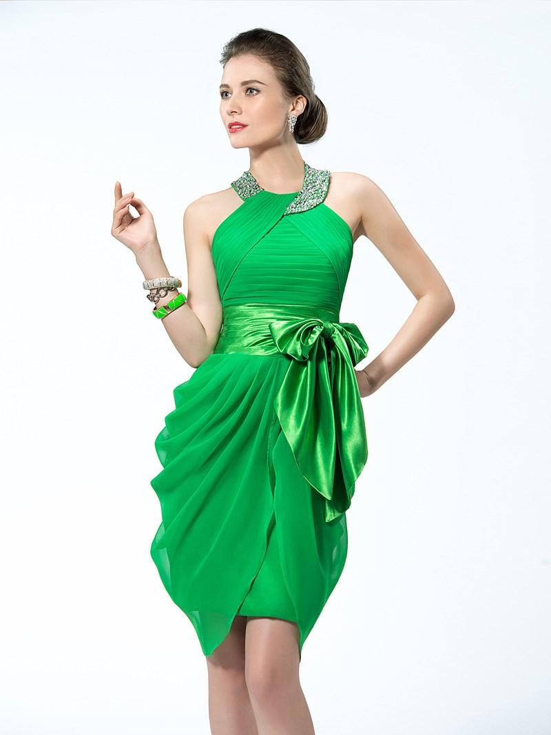 Ericdress Delightful Halter Short Cocktail Dress