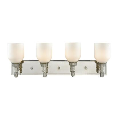 32273/4 Baxter 4 Light Vanity in Polished Nickel with Opal White