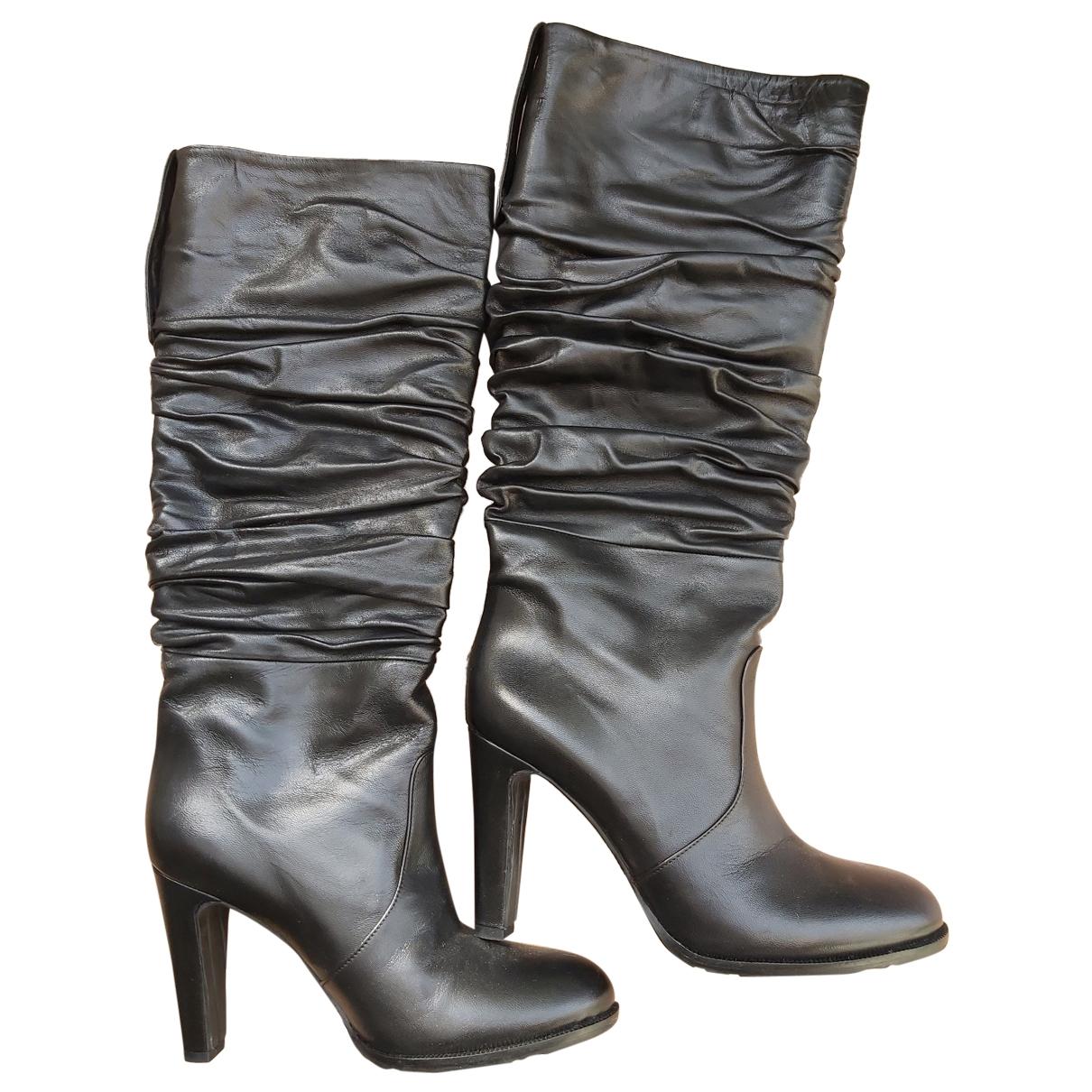 John Richmond - Bottes   pour femme en cuir - noir