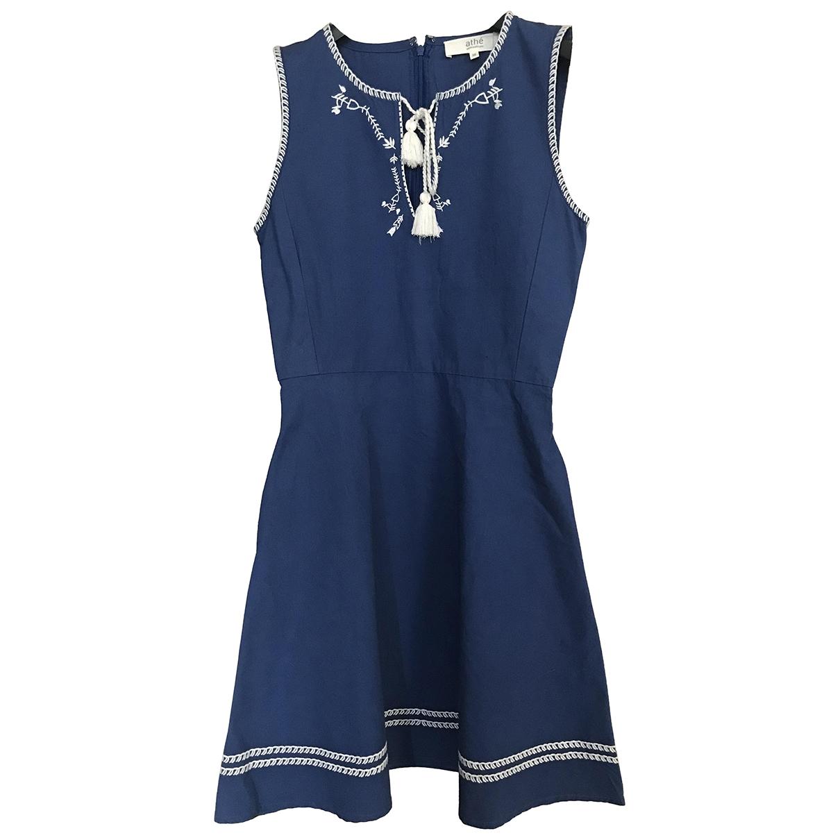Vanessa Bruno Athe - Robe   pour femme en coton - bleu