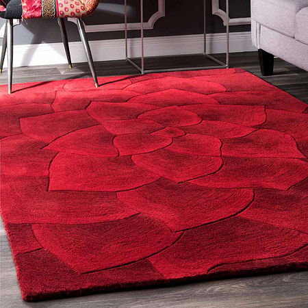 nuLoom Hand Tufted Gol Rug, One Size , Red