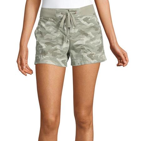 a.n.a Womens Knit Waist Short, 12 , Green