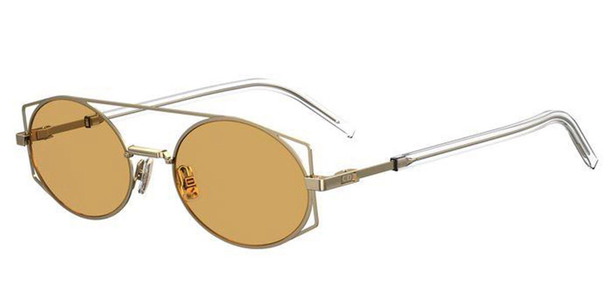 Dior ARCHITECTURAL J5G/2M Men's Sunglasses Gold Size 53