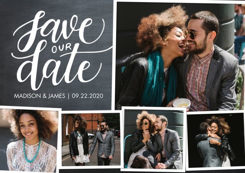 Save the Date 5x7 Cards, Premium Cardstock 120lb, Card & Stationery -Save Our Date Collage