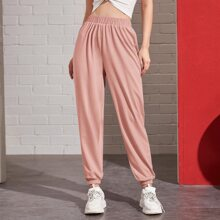 Pantalones Liso Rosa Casual