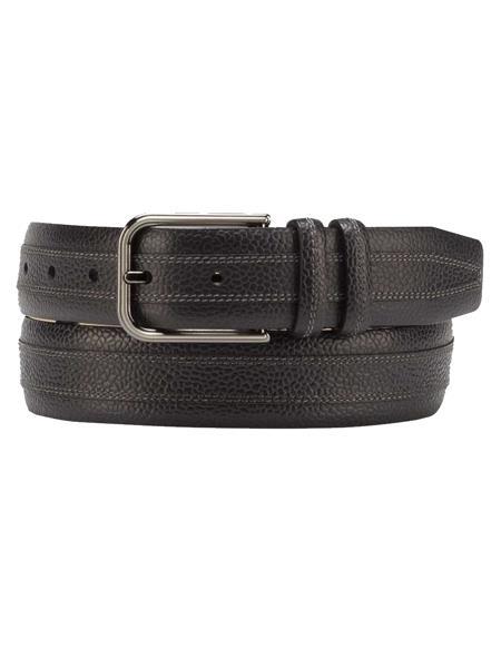 Mezlan Brand Men's Genuine Calfskin Black Skin Belt