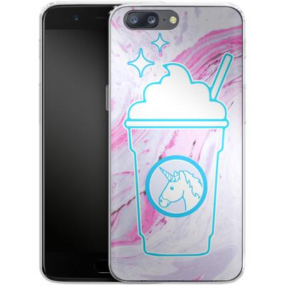 OnePlus 5 Silikon Handyhuelle - Unicorn Frappuccino von caseable Designs