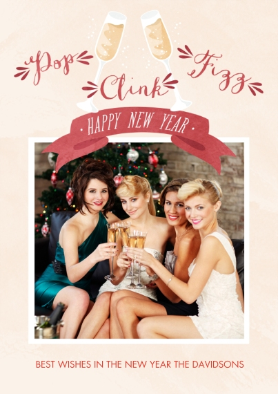 New Year's Flat Matte Photo Paper Cards with Envelopes, 5x7, Card & Stationery -Sweet Start