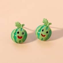 Toddler Girls Fruit Shaped Stud Earrings
