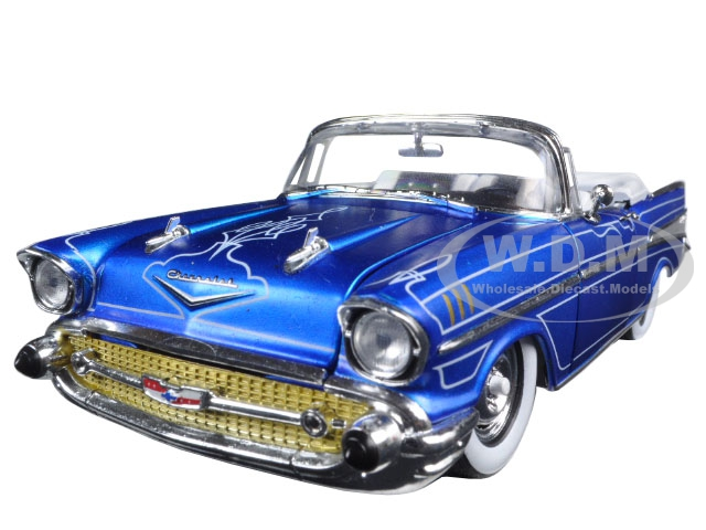 1957 Chevrolet Bel Air Convertible Satin Blue with White