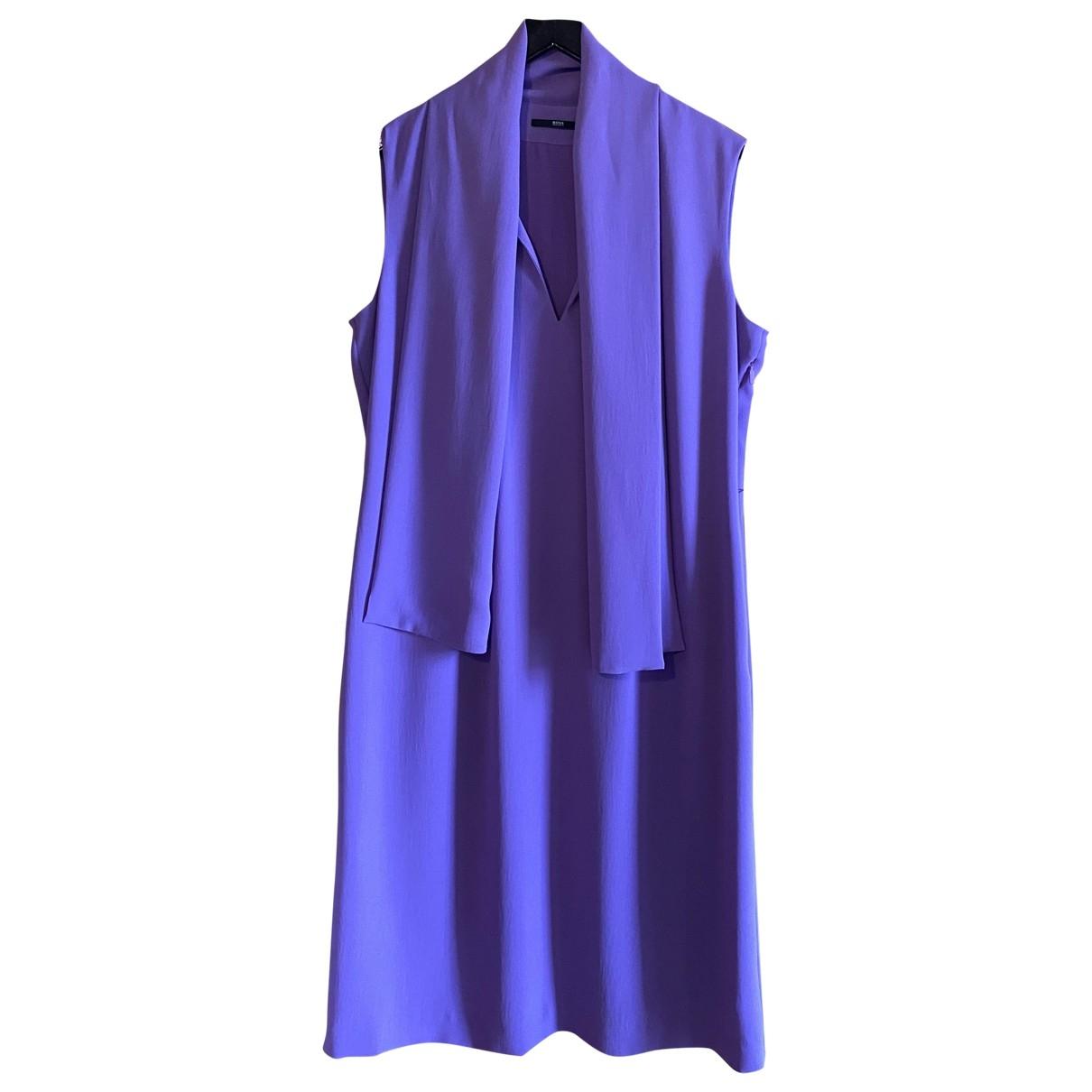 Hugo Boss - Robe   pour femme - violet