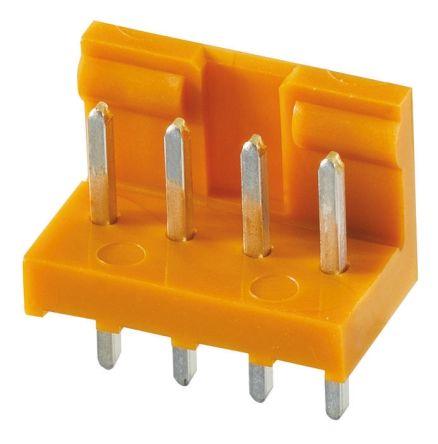 JAE , IL-G, 4 Way, 1 Row, Straight PCB Header (10)