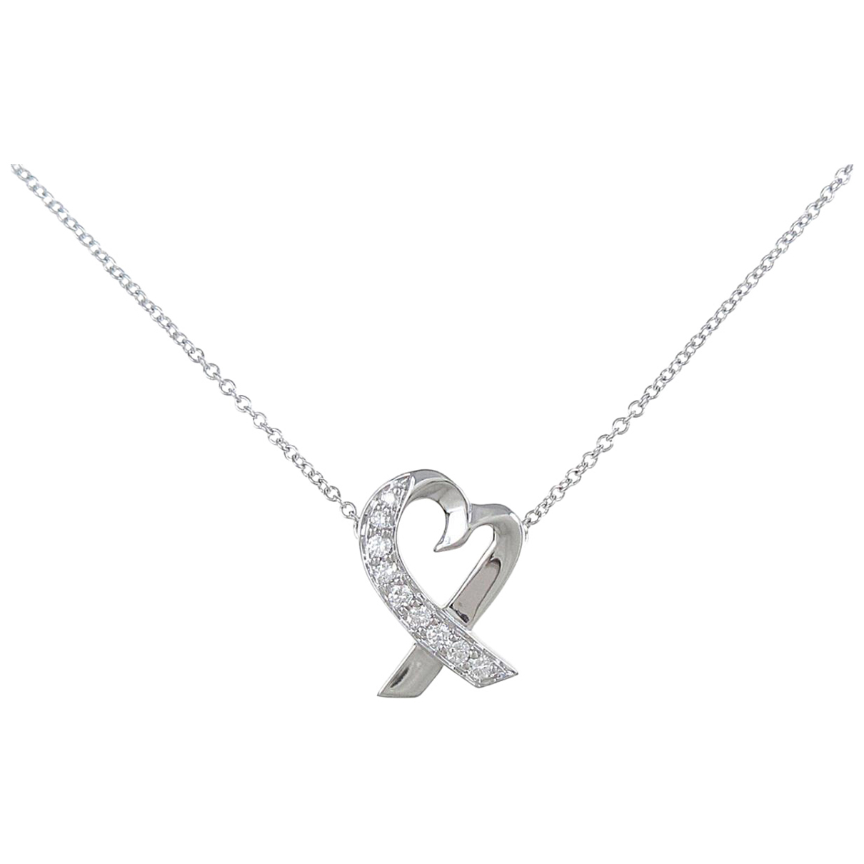 Tiffany & Co N Silver White gold necklace for Women N
