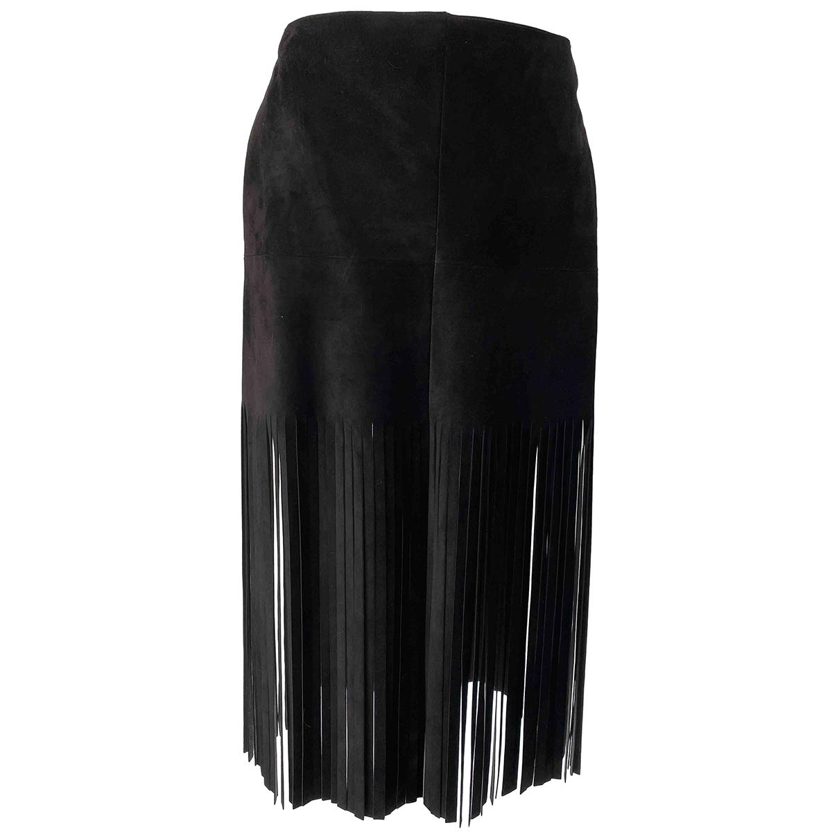 Valentino Garavani - Jupe   pour femme en suede - noir