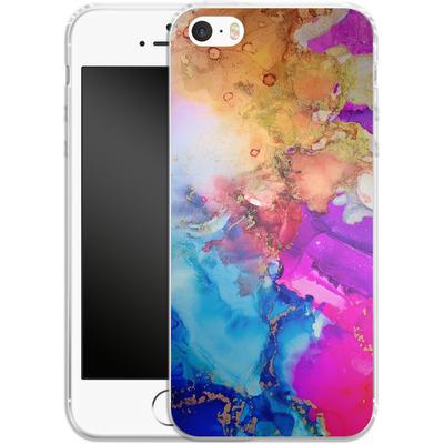 Apple iPhone 5s Silikon Handyhuelle - Cosmic Swirl III von Stella Lightheart