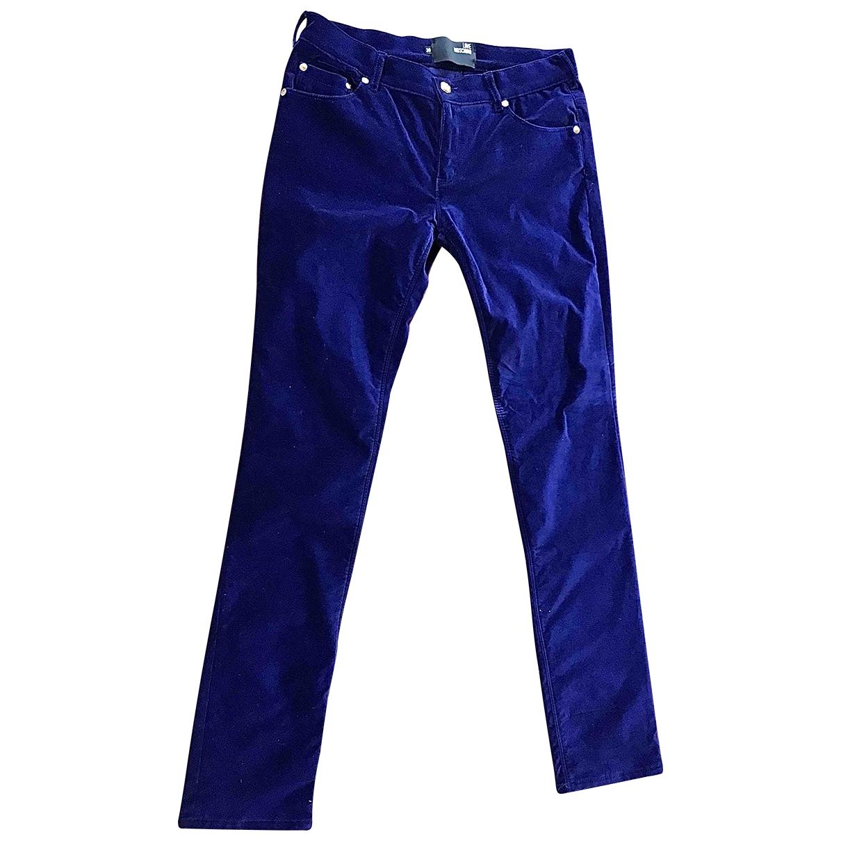 Pantalon largo de Terciopelo Moschino Love