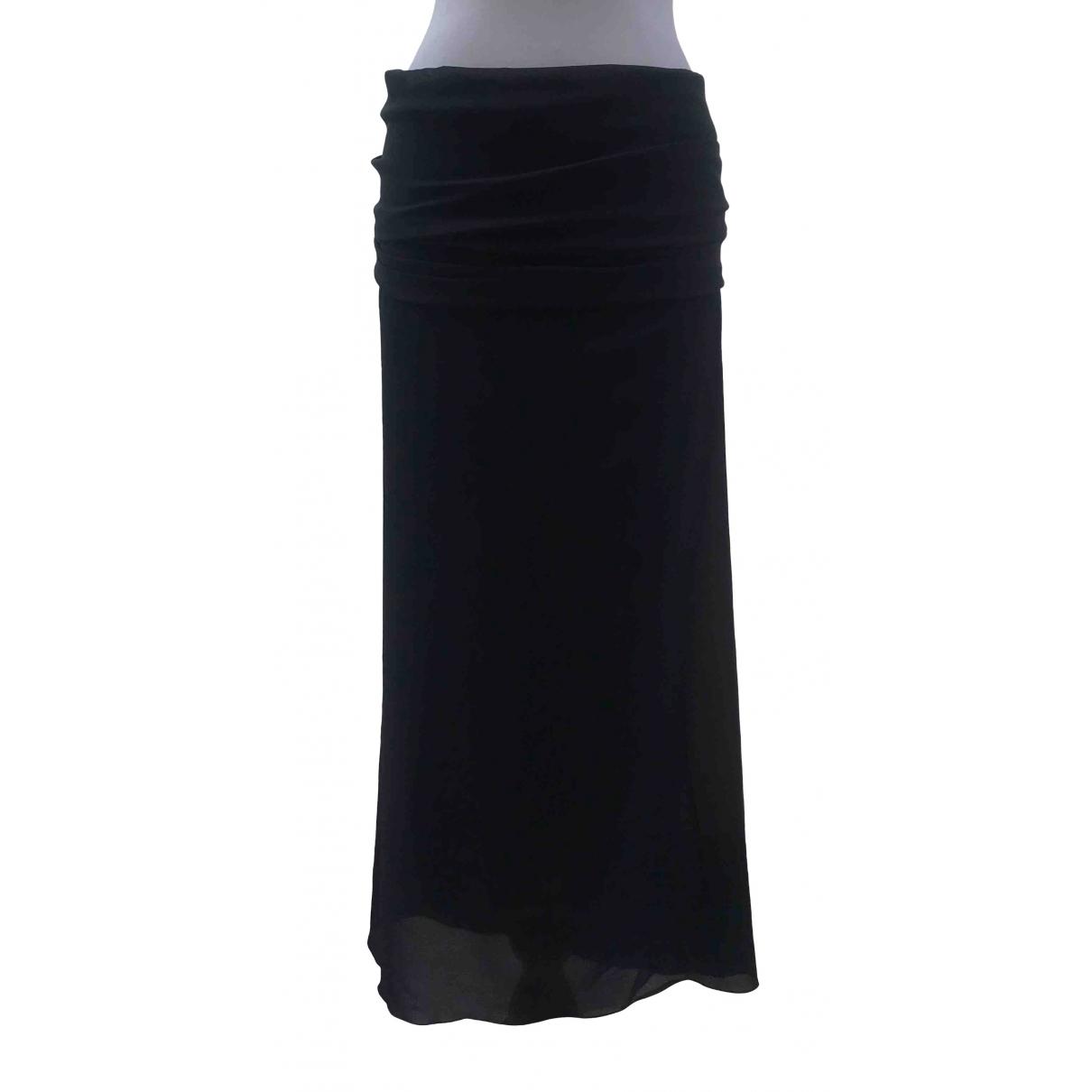 Jil Sander - Jupe   pour femme en soie - noir