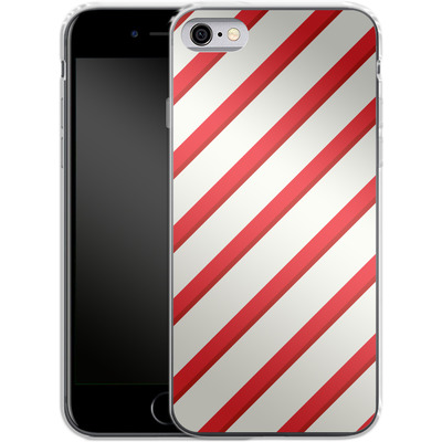 Apple iPhone 6 Silikon Handyhuelle - Candy Cane von caseable Specials