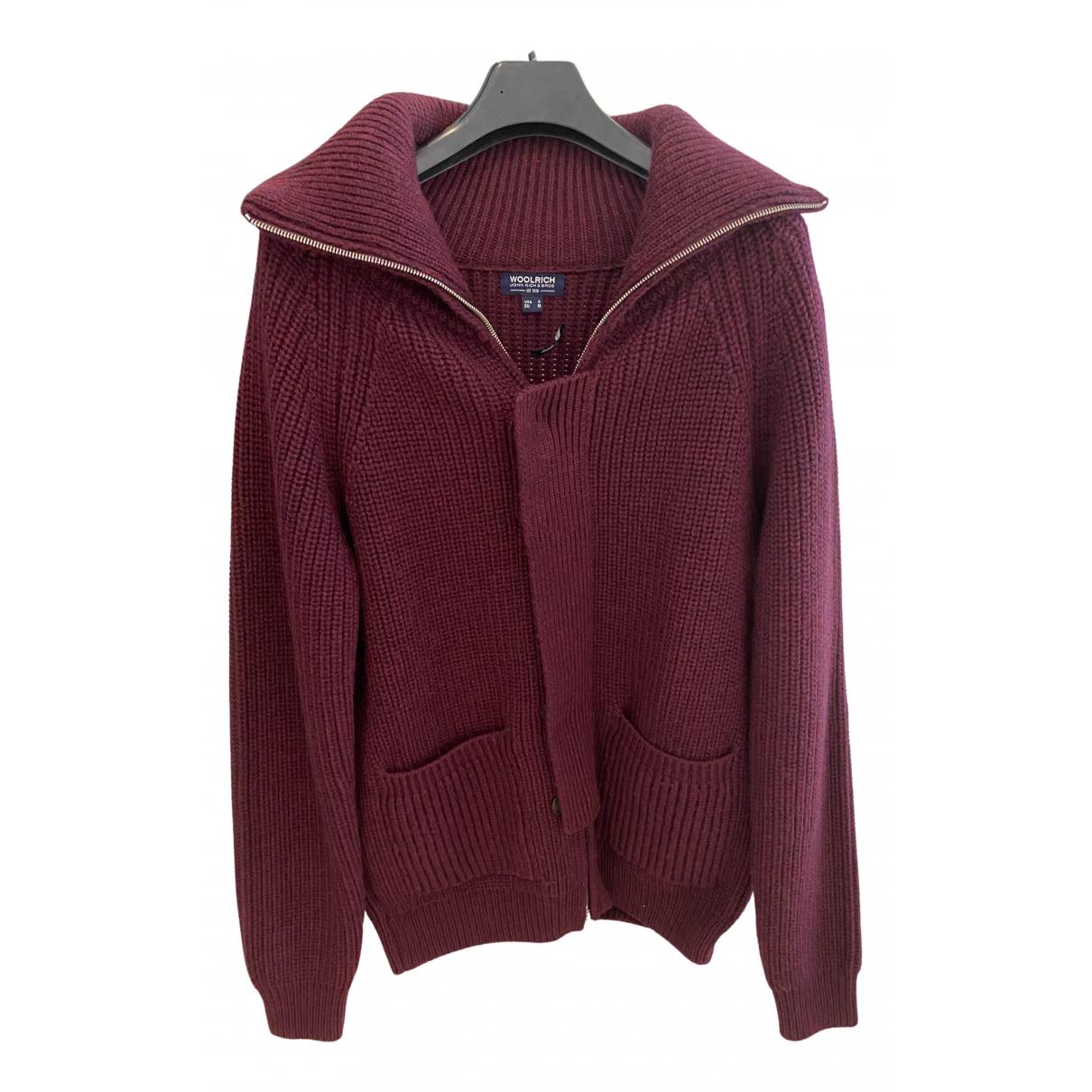 Woolrich N Burgundy Wool Knitwear & Sweatshirts for Men M International