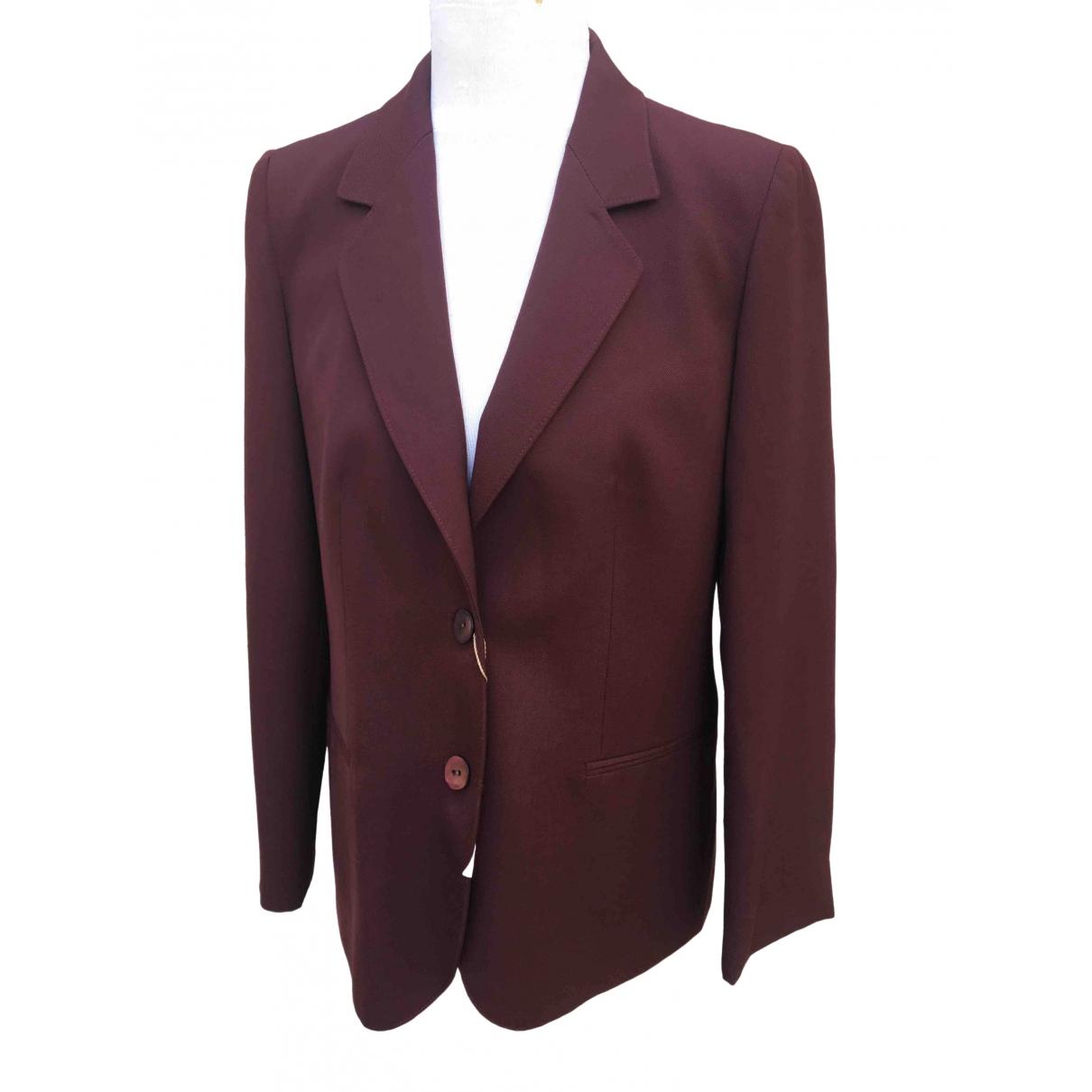- Veste   pour femme en laine - bordeaux