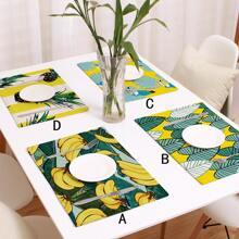 1 Stueck Tischset mit Blatt Muster