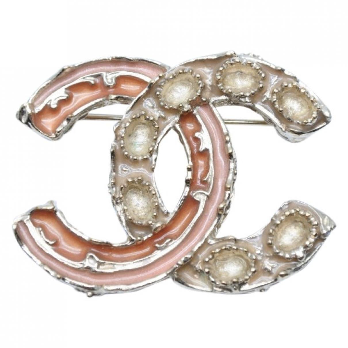 Broche CC en Chapado en oro Dorado Chanel