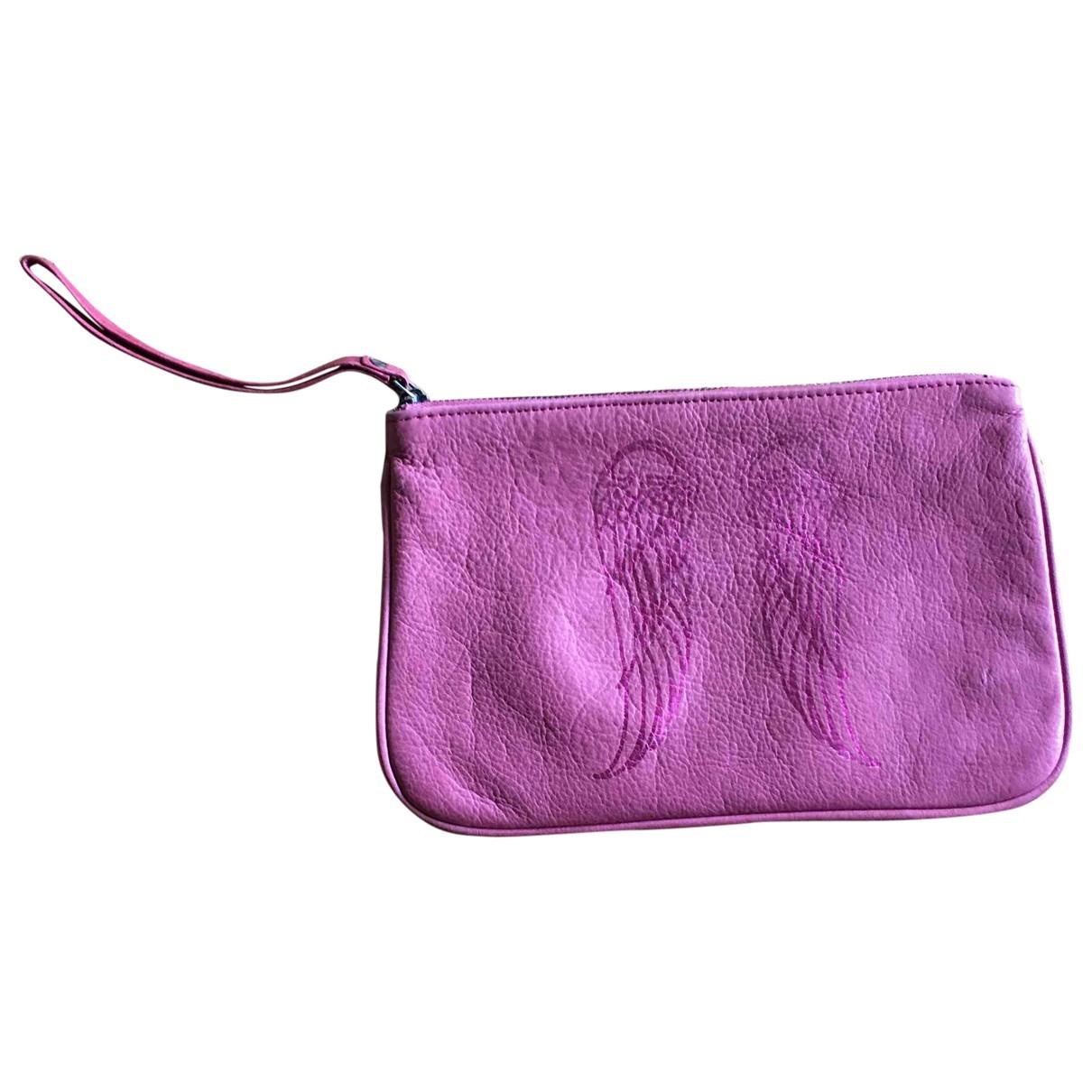 Berenice - Pochette   pour femme en cuir - rose