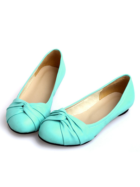 Milanoo Zapatos planos de puntera redonda slip-on Planos para mujer para ocasion informal estilo moderno Color liso