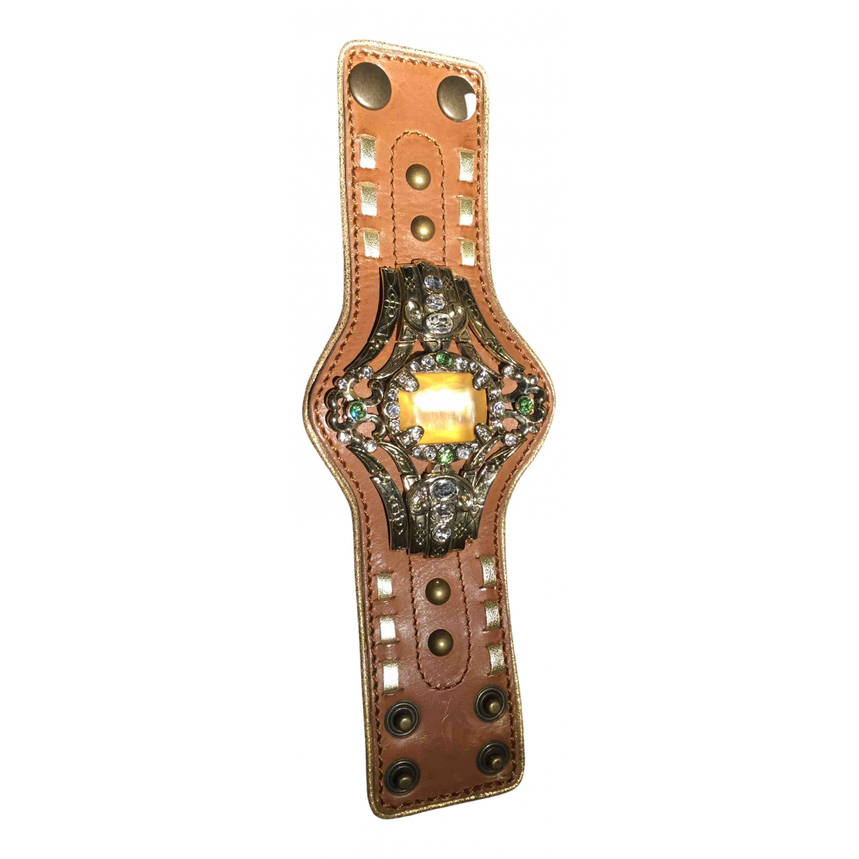 Giuseppe Zanotti \N Armband in  Gold Leder