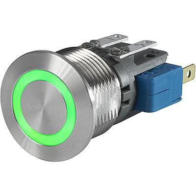 Schurter Push Button Touch Switch, Momentary ,Illuminated, Green, IP40, IP67 Au (10)
