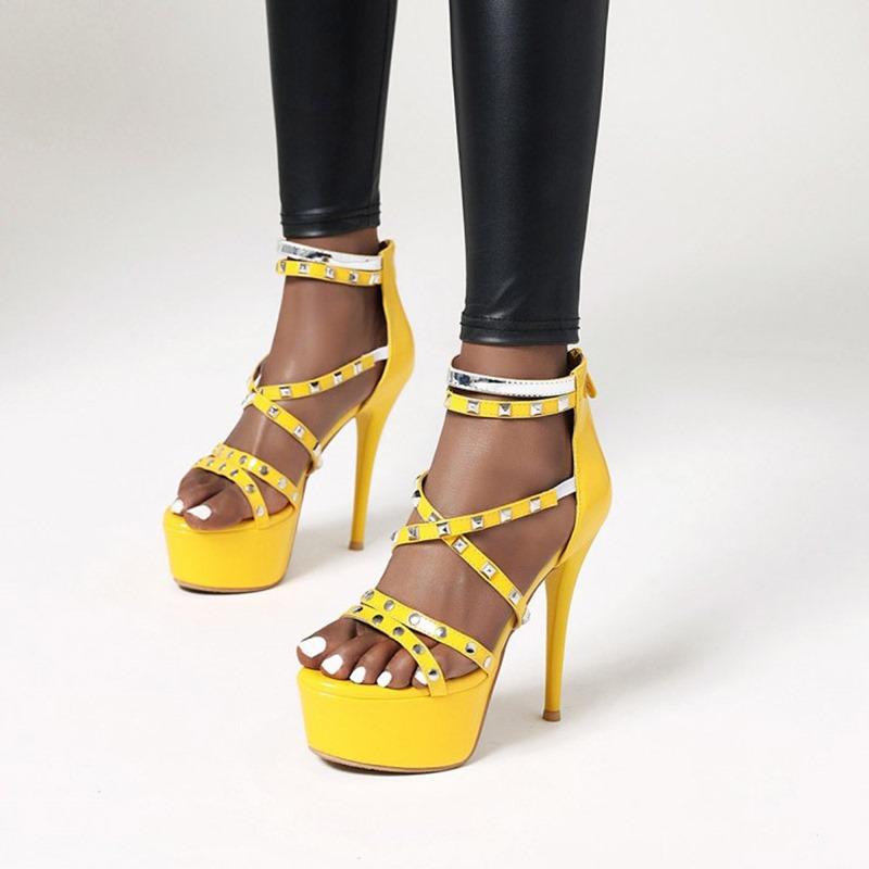 Ericdress Open Toe Heel Covering Stiletto Heel Mid-Cut Upper Women's Sandals