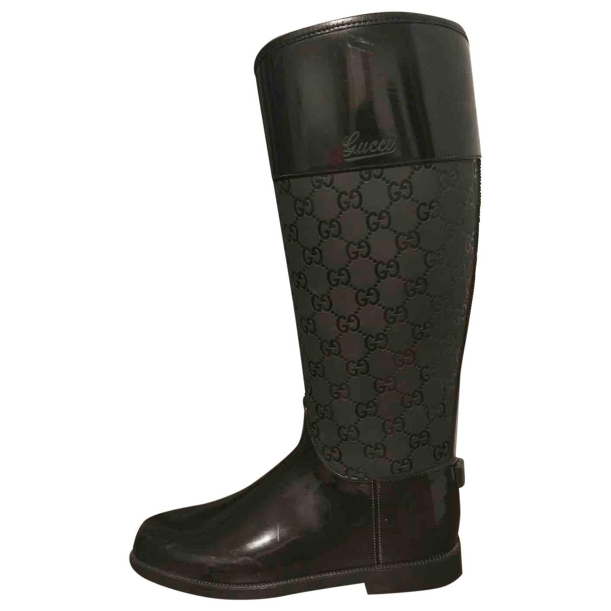 Gucci \N Stiefel in  Schwarz Kunststoff