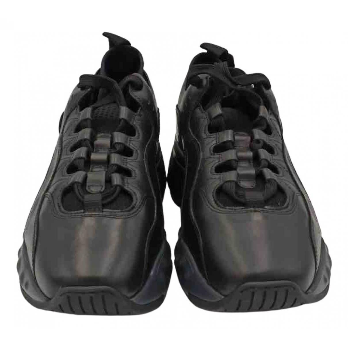 Acne Studios Rockaway Black Leather Trainers for Men 42 EU