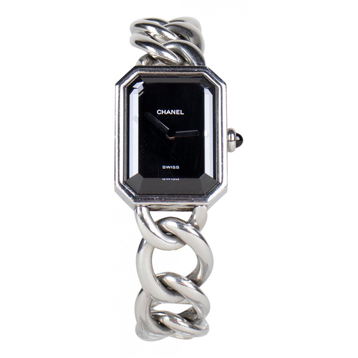 Chanel - Montre Premiere Chaine pour femme en acier - argente