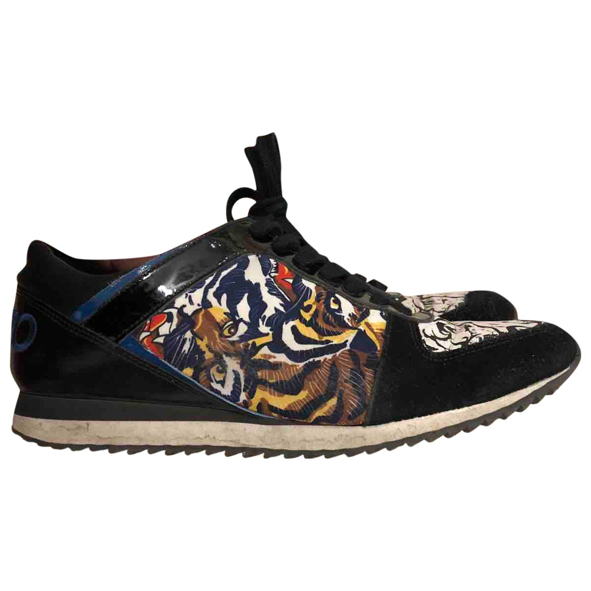 Kenzo N Black Leather Trainers for Women 40 EU