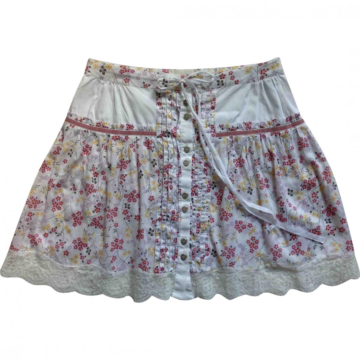 D&g - Jupe   pour femme en coton - elasthane - blanc