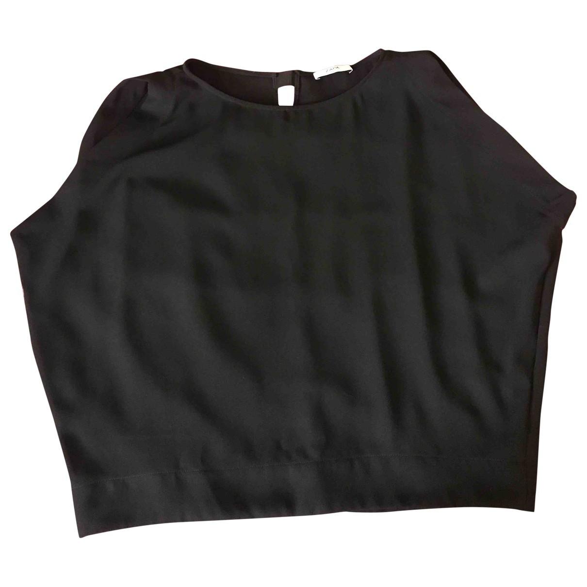 Zapa \N Top in  Schwarz Polyester