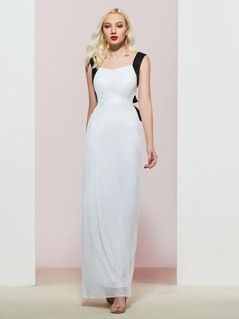 Ericdress Sheath Straps Sequins Sleeveless Evening Dress