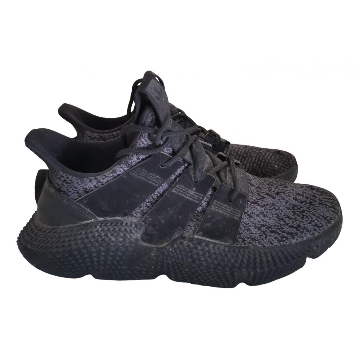 Adidas \N Sneakers in  Schwarz Leinen