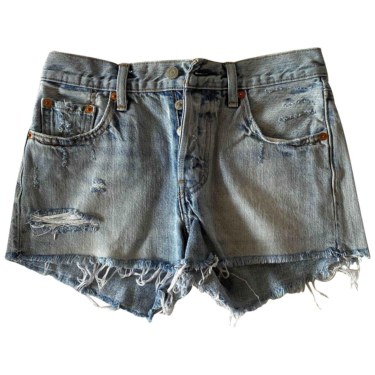 Levi's \N Blue Denim - Jeans Shorts for Women 36 FR