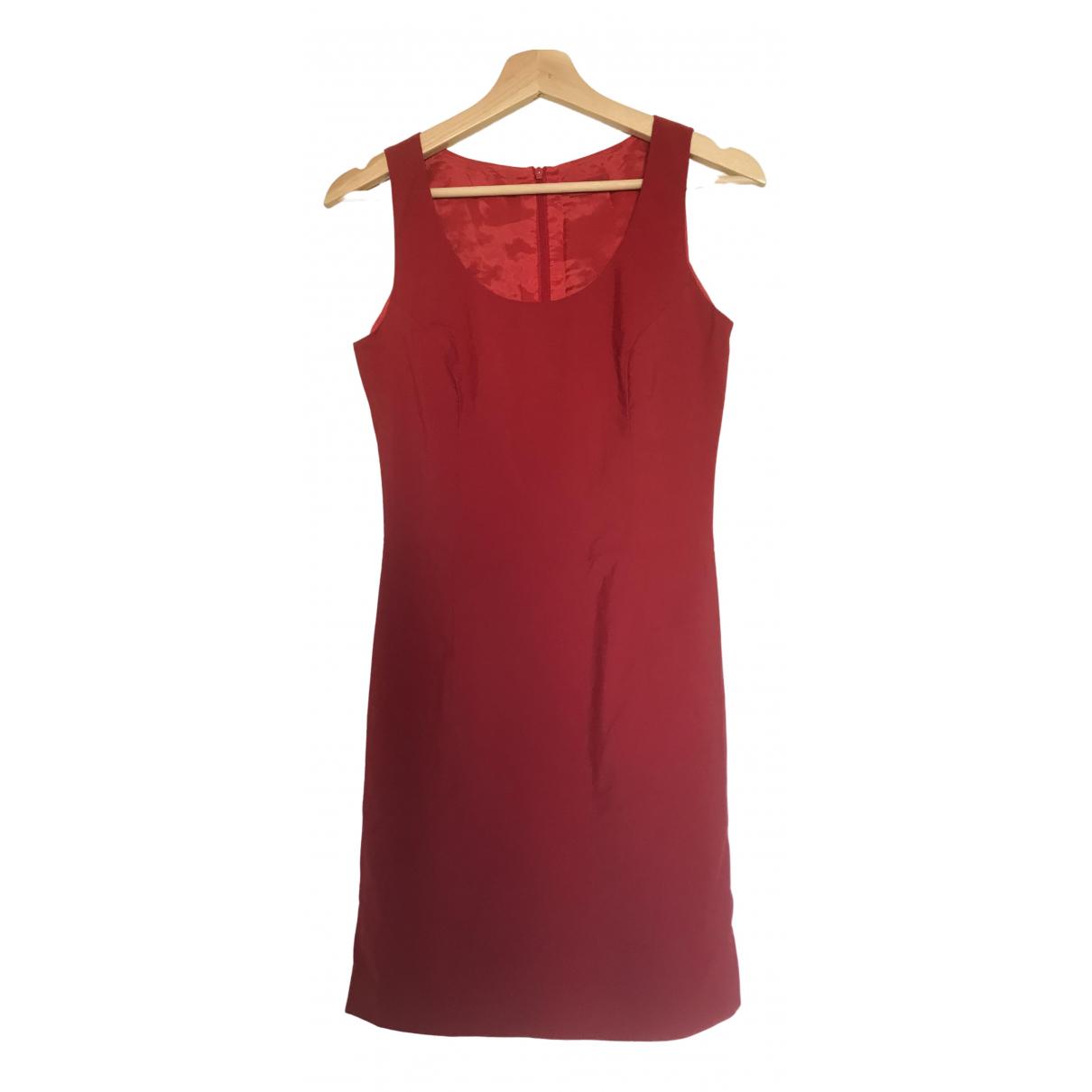 Hugo Boss \N Kleid in  Rot Synthetik