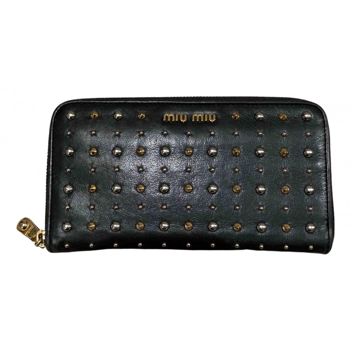 Miu Miu N Black Leather wallet for Women N