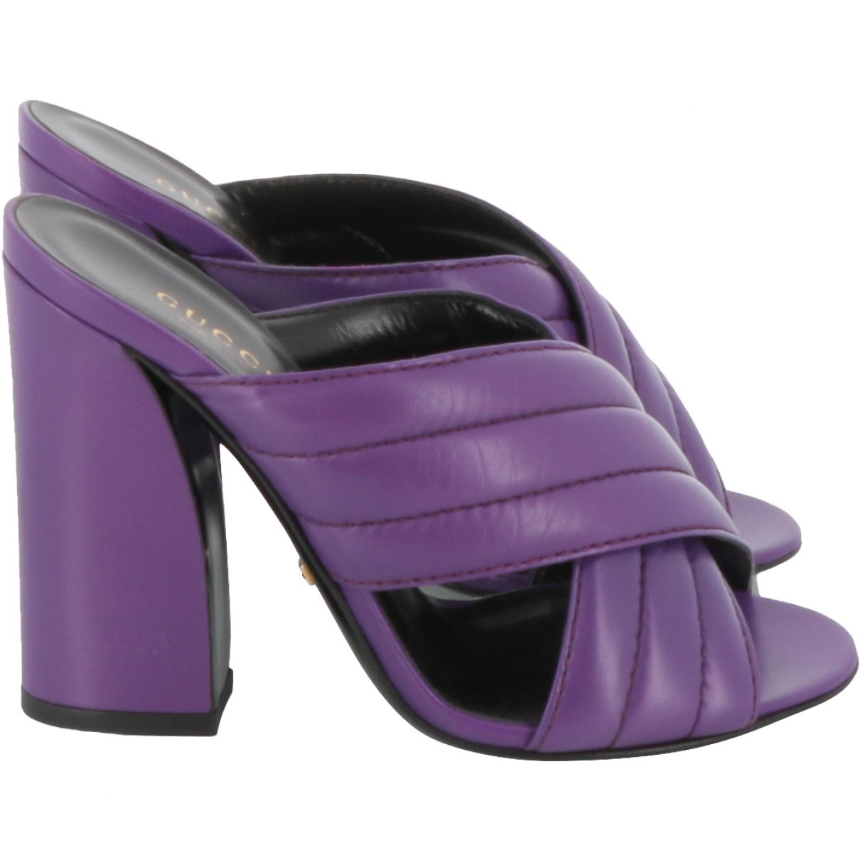 Gucci \N Purple Leather Sandals for Women 36 EU